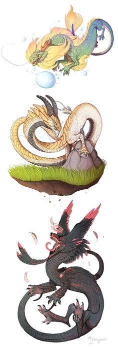Long dragons by azira-star-wind