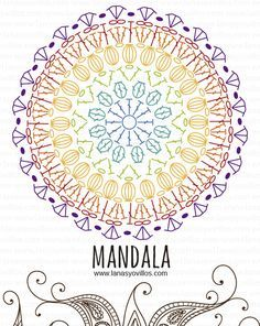 mandala free crochet pattern with video tutorial, español e inglés.