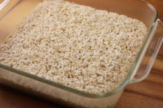 Cooked Brown Rice - recipe to help combat the crunchy rice I sometimes get when following package directions - MA