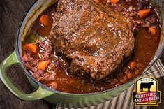 German Pot Roast recipe provided by the Certified Angus Beef® brand. German Pot Roast Recipe, Best Roast Beef Recipe, Roast Beef Recipes, Beef Recipes For Dinner, Entree Recipes, Meat Recipes, Cooking Recipes, German Recipes, Recipies