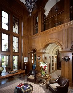 Beverly Park Mansion of Actor Eddie Murphy in Beverly Hills - all wood