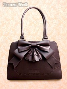 Innocent World Ribbon Frill Bag in Chocolate