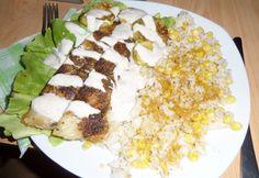Sült hekkfilé barna rizzsel Cobb Salad, Curry, Food, Living Room, Apartment Master Bedroom, Curries, Essen, Meals, Yemek