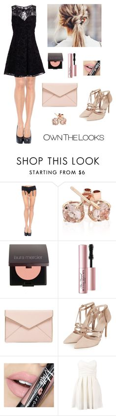 """""""Maybe that's what happens when a tornado meets a volcano"""" by firebreatherr ❤ liked on Polyvore featuring Leg Avenue, Reeds Jewelers, Laura Mercier, Too Faced Cosmetics, Rebecca Minkoff, Topshop, Fiebiger, TFNC and Alice + Olivia"""