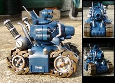 Metal slug wip 1 by ThePrinceofMars on DeviantArt Robot Design, Game Design, Poly Tanks, Tech Art, Battle Tank, Game Pieces, Game Art, Futuristic, Action Figures
