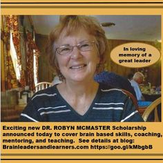 Announcing the Dr. Robyn McMaster Scholarship at Mita International Brain Center | http://www.brainleadersandlearners.com/innovation/announcing-the-dr-robyn-mcmaster-scholarship-at-mita-international-brain-based-center/