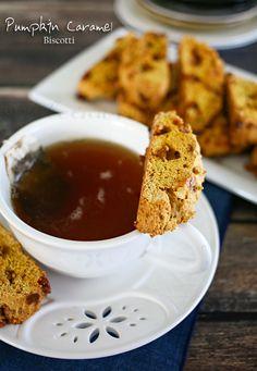 Pumpkin Caramel Biscotti