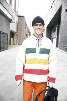 The Bay Jacket— Boy Edition Men Street, Street Wear, Hudson Bay Blanket, Street Trends, Sea To Shining Sea, Canadian History, Body Love, Mountain Man, People Around The World