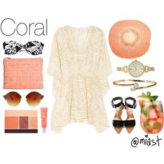 Summer Colors | Coral by miast on Polyvore