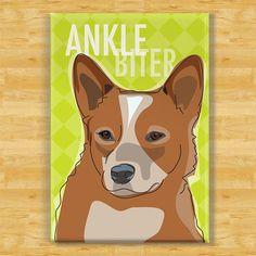 Scarlet  Red Heeler Dog Magnet  Ankle Biter  Australian Cattle by PopDoggie, $5.99