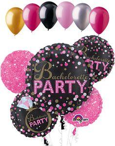 Bachelorette Party Sassy & Sparkles Balloon Bouquet
