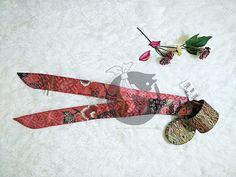 Amora Sekar Jagad  Beautiful pink batik twilly with sekar jagad pattern gives you mature / feminine / friendly impression