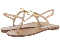Steve Madden - Daisey  Price: $40  Add a splash of sweet delight to your look with these saucy sandals! Thong-style construction with adjustable buckle closure. Leather upper with hardware bow accent. Man-made lining. Lightly cushioned man-made footbed. Flexible man-made sole. Imported. Measurements: Heel Height: 1 2 in