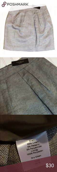 NWT Talbots metallic linen skirt sz 8 petite New. Smoke and pet free home Talbots Skirts A-Line or Full