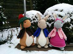 Benjamin, pieter konijn en lily. Anja toonen