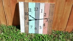 extra large reclaimed pallet clock