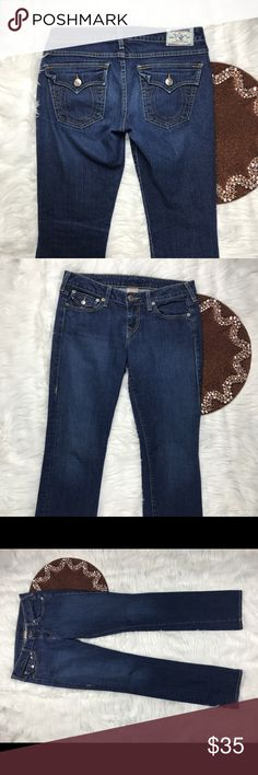 True Religion Billy Women Jeans Size 29 Great item , please see pictures for more information   There are NO Major Flaws with this item. If you notice a flaw that we did not mention, please contact us first before leaving negative feedback. We are only human and may make a mistake once in a while.   From Smoke Free Home True Religion Jeans Boot Cut