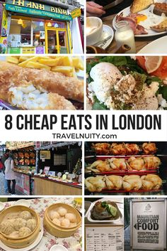 8 travel bloggers share their recommendations for cheap eats in London, from Vietnamese to fish and chips to Mauritius cuisine!