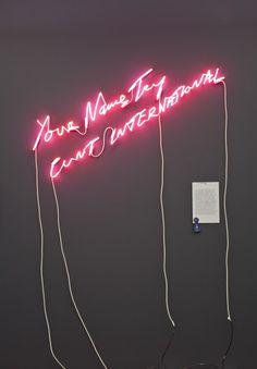 Tracey Emin. Neon Art//Neon LOVE!!!