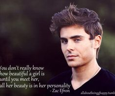 ..thanks zac for melting my heart. you're so wise. Go tell all the jerks out there who only go for the gold.