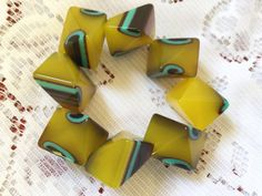 1960's Chunky unusual lucite bracelet by VINTAGEwithaSMILE on Etsy