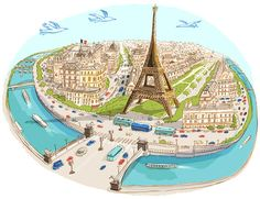 you can tell how beloved Paris is by the sheer amount of whimsical maps created in her honor