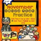 Create a book with this 16 page November Sight Word Practice!  You have two option to choose from to let your kids or students play and learn their...