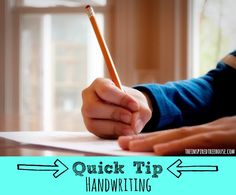 Handwriting quick tip: teach students that letters fall into three categories: tall, small, and tail letters. I do this all the time!