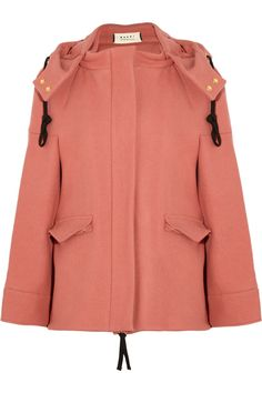 Marni Hooded wool-felt jacket NET-A-PORTER.COM