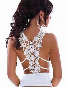 Gorgeous white lace back