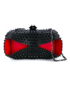 CHRISTIAN LOUBOUTIN Grandotto Spike Leather Clutch. #christianlouboutin #bags…