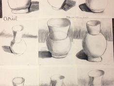 Fifth Grade Charcoal Vases