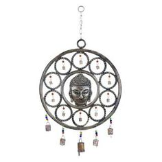 Check out the Woodland Imports 26757 Buddha Wind Chime with Mix of Spirituality