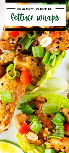 When you need a simple meal that is loaded with flavor, these Keto Chicken Lettuce Wraps are perfect. Zippy ginger and garlic are combined with a punchy peanut butter sauce to create tender chicken with an Asian flair. Top it off with your favorite fixings, and you have a delicious meal that will leave you doing a happy dance. Chicken Lettuce Cups, Asian Chicken Lettuce Wraps, Keto Lunch Ideas, Lunch Recipes, Easy Weeknight Meals, Easy Meals, Happy Dance, Hoisin Sauce, Butter Sauce