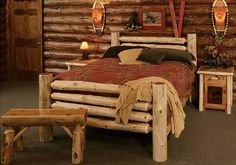 Rustic bedroom ideas with natural wooden furniture style | Decolover.net