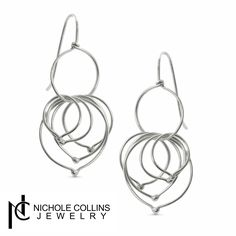 These gorgeous earrings made of sterling silver are perfect for a night out! Check out www.nicholecollinsjewelry.com for more!