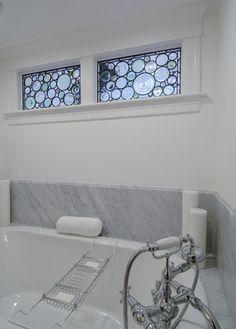 stained glas windows (perfect for Barcelona) - Tidal Marsh - modern - bathroom - boston - Siemasko + Verbridge
