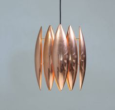 Copper Kastor Pendant by Jo Hammerborg for Fog & Mørup   From a unique collection of antique and modern chandeliers and pendants  at https://www.1stdibs.com/furniture/lighting/chandeliers-pendant-lights/