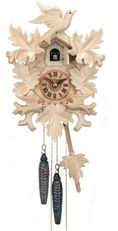 1 day --natural with moving birds by Hubert Herr ---- back ordered, ships in Nov.  A black forest cuchoo clock.