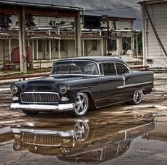 Check out this feature on John Turbyfill's stunning, supercharged, 1955 Chevrolet Bel Air. This tri-five makes 930 horsepower! 57 Chevy Bel Air, 1955 Chevy, 1955 Chevrolet, Chevrolet Bel Air, Rat Rods, Classic Trucks, Classic Cars, Chevy Muscle Cars, Us Cars