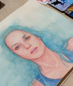 Marion Cotillard watercolor portrait for Rust and Bone movie bluray cover. To The Bone Movie, Face Sketch, Marion Cotillard, Watercolor Portraits, Behance, Paintings, Art, Art Background, Paint