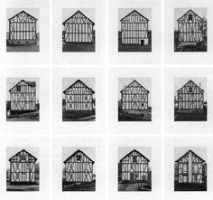 Typologies n°1 [Bernd & Hilla becher photographient des bâtiments et constructions frontalement pour les transformer en objet graphique et soulever les similitudes & différences de leur structures] [séries et accumulations de motifs architecturaux] [formel] [objectivité] [stricts cadrages, montages en série, vues frontales, lisibilité du détail, travail du noir et blanc, qui provoquent  un processus de distanciation ou d'abstraction des structures industrielles photographiées]