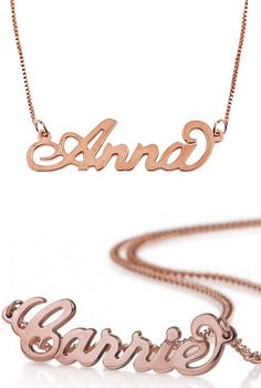 Personalized Name Necklace ♥ {Available in Gold, Rose Gold & Silver Also}