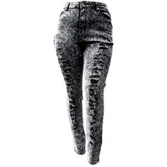 WOMENS PLUS SIZE Distressed Ripped Acid Wash BLACK DENIM JEANS HIGH... ❤ liked on Polyvore featuring jeans, plus size black skinny jeans, black ripped skinny jeans, black high waisted jeans, high-waisted skinny jeans and acid wash skinny jeans