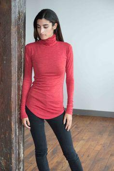 NEW Turtleneck Blouse / Long Sleeve Blouse / by marcellamoda