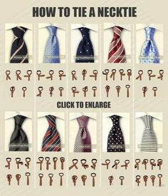 Need to print this out and hang it in the boys' closets since they wear ties...