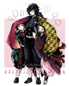 Kimetsu no Yaiba {Demon Slayer} - Kamado Nezuko, Kamado Tanjiro, Giyu Tomioka Manga Anime, Fanarts Anime, Otaku Anime, Anime Chibi, Kawaii Anime, Anime Art, Anime Angel, Anime Demon, Anime Love