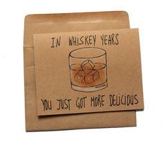 Whiskey Birthday Card - Funny Birthday Card for Whiskey Lovers - Whiskey Card for Dad . - Whiskey birthday card – funny birthday card for whiskey lovers – whiskey card for dad – whiskey birthday card for him – grandfather card, card - Happy Birthday For Him, Birthday Cards For Him, Birthday Cards For Boyfriend, Bday Cards, Funny Birthday Cards, Birthday Quotes Funny For Him, 25th Birthday Ideas For Him, Card Birthday, Humor Birthday