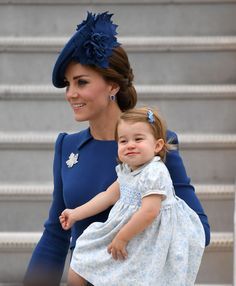 Catherine, Duchess of Cambridge and Princess Charlotte of Cambridge arrive at the Victoria Airport on September 24, 2016 in Victoria, Canada. More