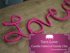 Yarn Love - From the Home Decor Discovery Community at www.DecoandBloom.com